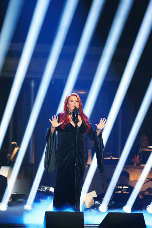 Singer and former contestant Wynonna Judd sings 'I Want To Know What Love Is' on the 'Dancing With The Stars' season 16 finale on May 21, 2013.