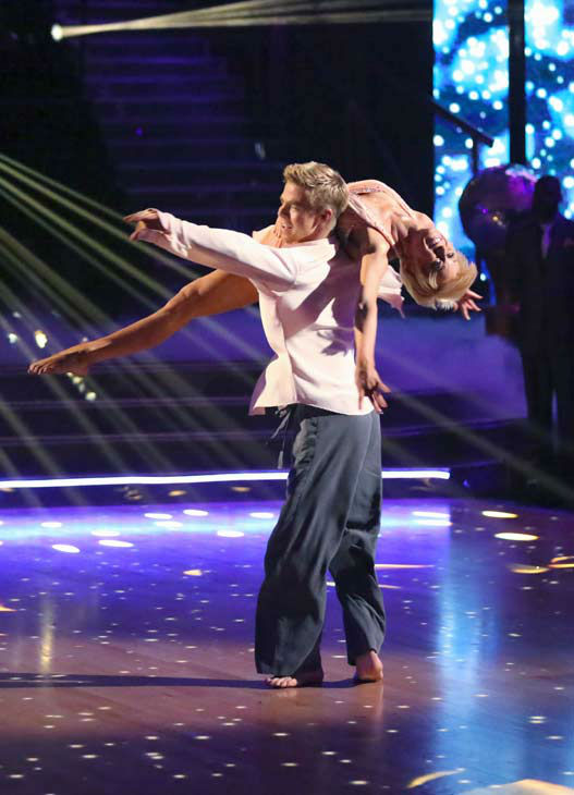 Kellie Pickler, an 'American Idol' alum, and partner Derek Hough dance an encore dance on the 'Dancing With The Stars' season 16 finale on May 21, 2013.