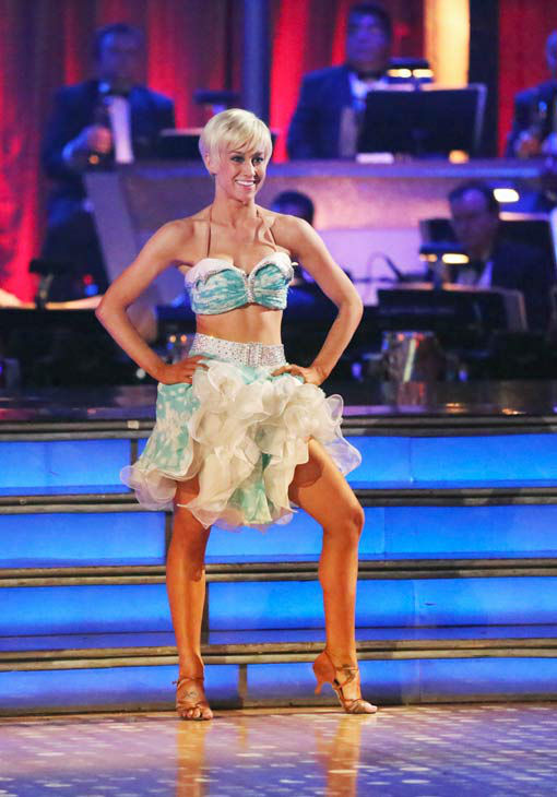 "<div class=""meta ""><span class=""caption-text "">Kellie Pickler and partner Derek Hough received 30 out of 30 points from the judges for their Instant jive during week 10 of 'Dancing With The Stars,' which aired on May 21, 2013.Their cumulative score for the week was 94 out of 95 points. (ABC Photo/ Adam Taylor)</span></div>"