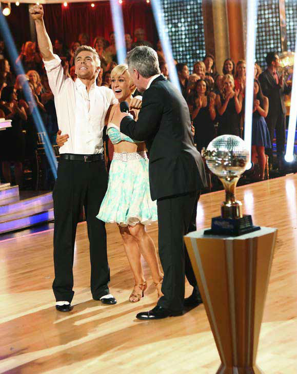"<div class=""meta ""><span class=""caption-text "">Kellie Pickler, an 'American Idol' alum, and partner Derek Hough react after they are announced as the winners of 'Dancing With The Stars' on the ABC show's season 16 finale on May 21, 2013. The previous day, the pair received 30 out of 30 points from the judges for their Quickstep routine, 30 out of 30 points for their Freestyle and 4 extra points for their Cha Cha Cha, which brought their week's total to 64 out of 65. (ABC Photo/ Adam Taylor)</span></div>"
