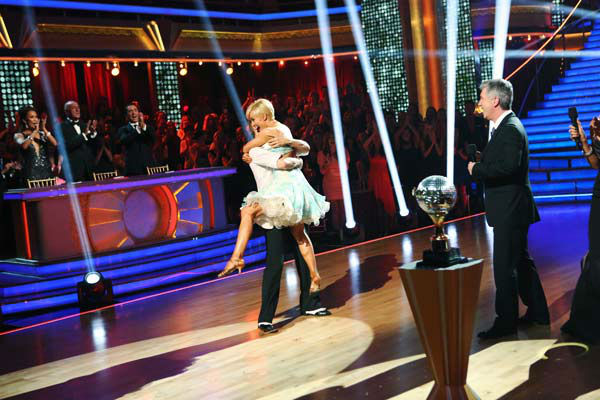 Kellie Pickler, an &#39;American Idol&#39; alum, and partner Derek Hough react after they are announced as the winners of &#39;Dancing With The Stars&#39; on the ABC show&#39;s season 16 finale on May 21, 2013. The previous day, the pair received 30 out of 30 points from the judges for their Quickstep routine, 30 out of 30 points for their Freestyle and 4 extra points for their Cha Cha Cha, which brought their week&#39;s total to 64 out of 65. <span class=meta>(ABC Photo&#47; Adam Taylor)</span>
