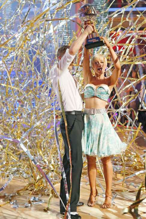 "<div class=""meta image-caption""><div class=""origin-logo origin-image ""><span></span></div><span class=""caption-text"">Kellie Pickler, an 'American Idol' alum, and partner Derek Hough react after they are announced as the winners of 'Dancing With The Stars' on the ABC show's season 16 finale on May 21, 2013. The previous day, the pair received 30 out of 30 points from the judges for their Quickstep routine, 30 out of 30 points for their Freestyle and 4 extra points for their Cha Cha Cha, which brought their week's total to 64 out of 65. (ABC Photo/ Kelsey McNeal)</span></div>"