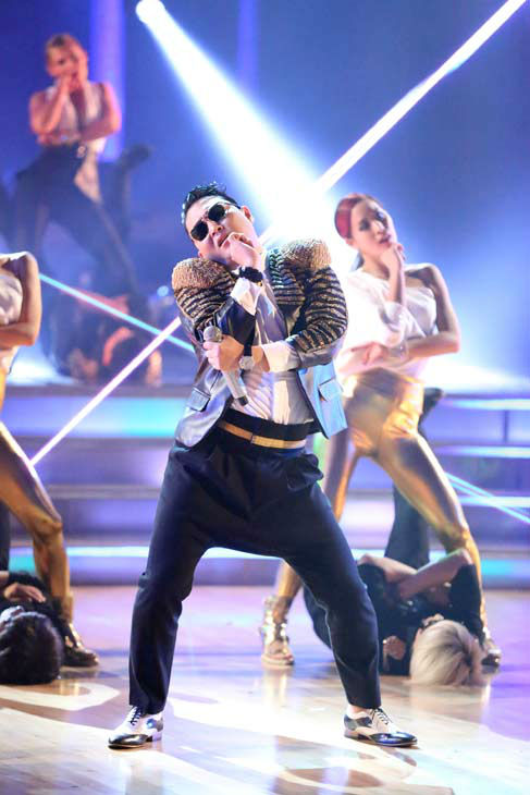 PSY performs his new song 'Gentlemen' on the 'Dancing With The Stars' season 16 finale on May 21, 2013.