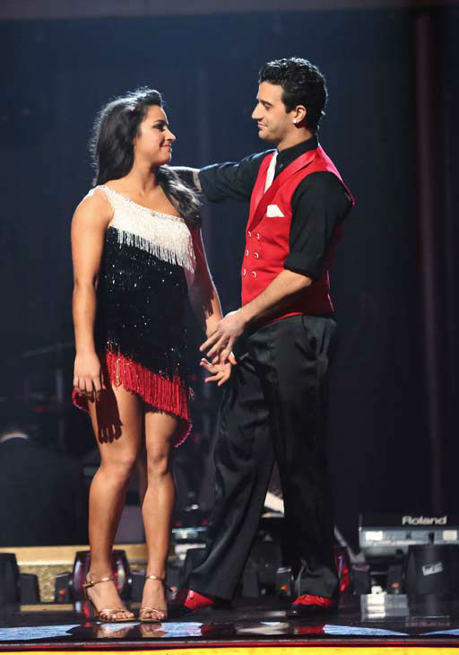 Olympic gymnast Aly Raisman and partner Mark Ballas react to coming in fourth place on the &#39;Dancing With The Stars&#39; season 16 finale on May 21, 2013.The previous day, the pair received 28 out of 30 points from the judges for their Samba routine, 30 out of 30 points for their Freestyle and 3 extra points for their Cha Cha Cha, which brought their week&#39;s total to 61 out of 65 points from the judges. <span class=meta>(ABC Photo&#47; Adam Taylor)</span>