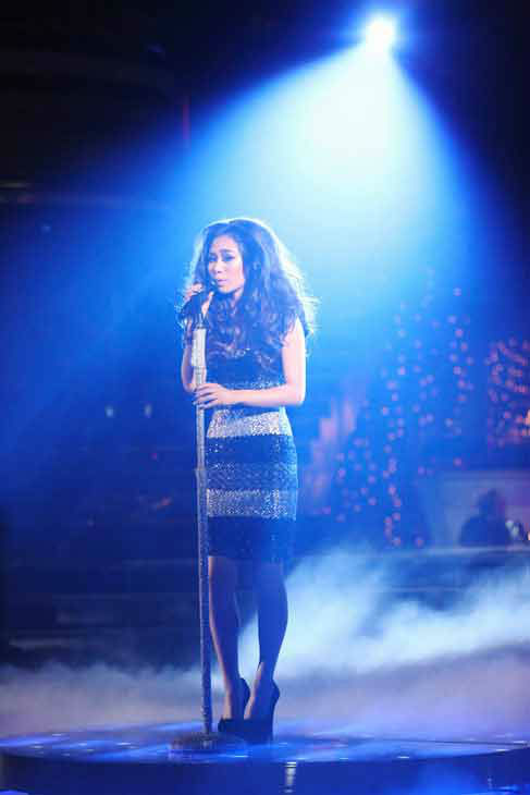 "<div class=""meta image-caption""><div class=""origin-logo origin-image ""><span></span></div><span class=""caption-text"">'American Idol' alum Jessica Sanchez performs 'Feel This Moment' on the 'Dancing With The Stars' season 16 finale on May 21, 2013. (ABC Photo/ Adam Taylor)</span></div>"