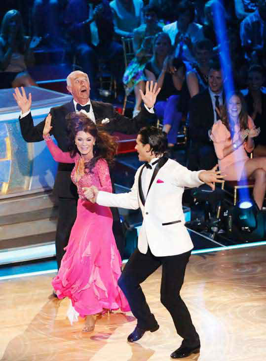 "<div class=""meta image-caption""><div class=""origin-logo origin-image ""><span></span></div><span class=""caption-text"">Former contestant and 'Real Housewives of Beverly Hills' star Lisa Vanderpump and former partner Gleb Savchenko perform on the 'Dancing With The Stars' season 16 finale on May 21, 2013. (ABC Photo/ Kelsey McNeal)</span></div>"