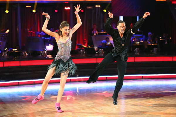 "<div class=""meta image-caption""><div class=""origin-logo origin-image ""><span></span></div><span class=""caption-text"">'Shake It Up' actress Zendaya and partner Val Chmerkovskiy dance the Instant Jive on week 10 of 'Dancing With The Stars' on May 21, 2013. They received 30 out of 30 points from the judges, bringing their week's cumulative score to 95 out of 95 points.  (ABC Photo/ Adam Taylor)</span></div>"