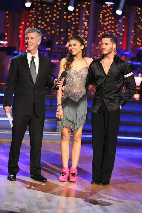 "<div class=""meta ""><span class=""caption-text "">'Shake It Up' actress Zendaya and partner Val Chmerkovskiy danced the Instant Jive on week 10 of 'Dancing With The Stars' on May 21, 2013. They received 30 out of 30 points from the judges, bringing their week's cumulative score to 95 out of 95 points.  (ABC Photo/ Adam Taylor)</span></div>"