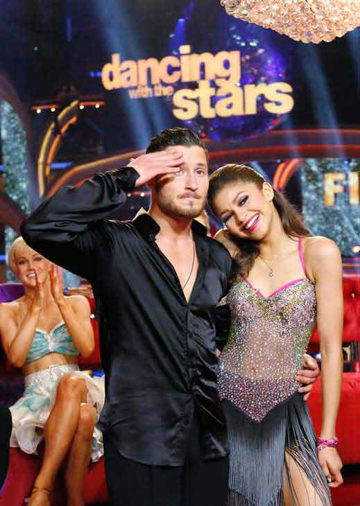 "<div class=""meta ""><span class=""caption-text "">'Shake It Up' actress Zendaya and partner Val Chmerkovskiy danced the Instant Jive on week 10 of 'Dancing With The Stars' on May 21, 2013. They received 30 out of 30 points from the judges, bringing their week's cumulative score to 95 out of 95 points.  (ABC Photo/ Kelsey McNeal)</span></div>"