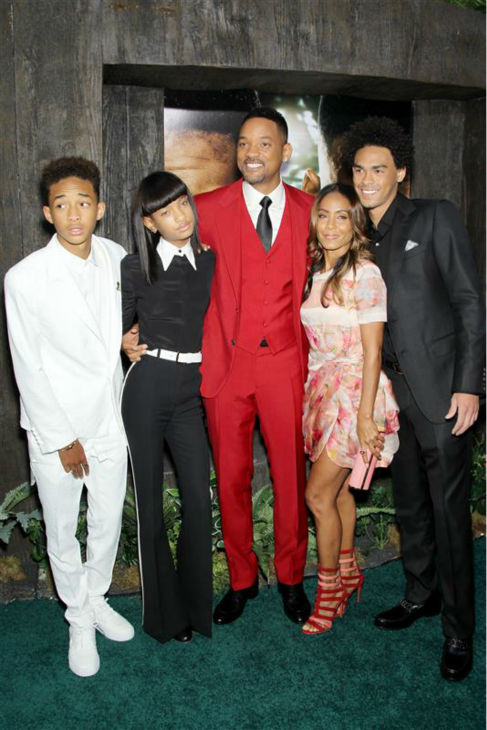 Will Smith and wife Jada Pinkett Smith appear with the actor&#39;s son Trey and the pair&#39;s son Jade and daughter Willow at the premiere of &#39;After Earth&#39; in new York on May 29, 2013. The Smiths wed in 1997. <span class=meta>(Marion Curtis &#47; Startraksphoto.com)</span>