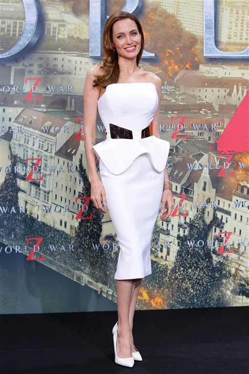 Angelina Jolie appears at the Berlin premiere of &#39;World War Z&#39; on June 4, 2013.  <span class=meta>(James Coldrey &#47; startraksphoto.com)</span>
