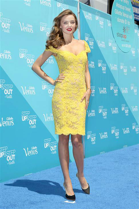 Miranda Kerr kicks off Gillette Venus Step Up and Step Out Multi-City Summer Tour in New York City on June 4, 2013. <span class=meta>(Kristina Bumphrey&#47;Startraksphoto)</span>