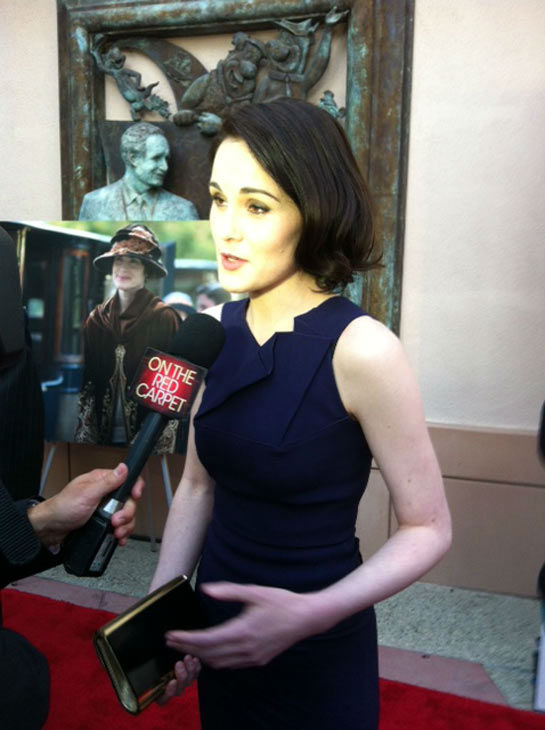 Michelle Dockery talked to OTRC.com in an interview at &#39;An Evening with &#39;Downton Abbey&#39; event on June 10, 2013. <span class=meta>(Erin Ashby)</span>