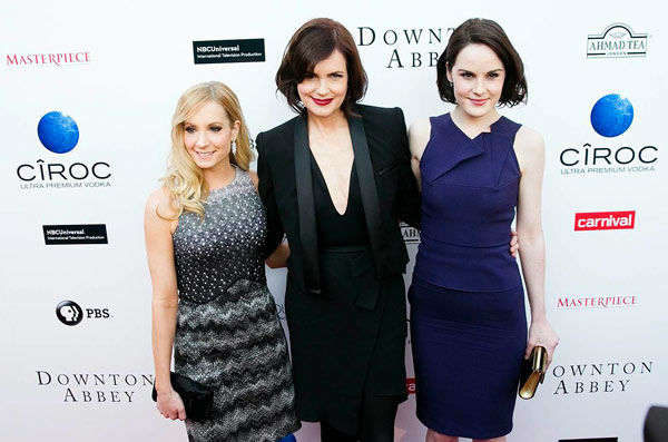 Joanne Froggatt, Elizabeth McGovern and Michelle Dockery appear at the An Evening with &#39;Downton Abbey&#39; event at the Television Academy in North Hollywood, California, on June 10, 2013. The event was sponsored by Ciroc Vodka. <span class=meta>(Colin Young-Wolff)</span>