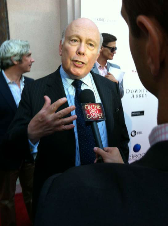 Julian Fellowes talked to OTRC.com in an interview at &#39;An Evening with &#39;Downton Abbey&#39; event on June 10, 2013. <span class=meta>(Erin Ashby)</span>