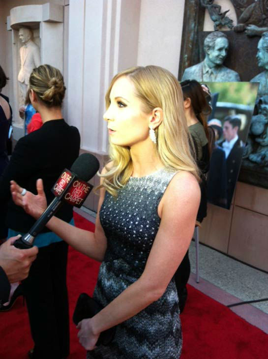 Joanne Froggatt talked to OTRC.com in an interview at &#39;An Evening with &#39;Downton Abbey&#39; event on June 10, 2013. <span class=meta>(Erin Ashby)</span>