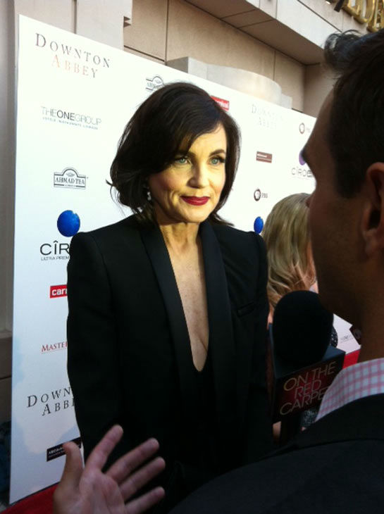 Elizabeth McGovern talked to OTRC.com in an interview at &#39;An Evening with &#39;Downton Abbey&#39; event on June 10, 2013. <span class=meta>(Erin Ashby)</span>