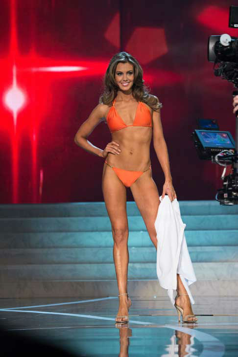 Miss Connecticut USA 2013, Erin Brady, competes in her ViX Paula Hermanny swimsuit during the 2013 MISS USA Competition at PH Live in Las Vegas, Nevada on Sunday June 16, 2013. <span class=meta>(Miss Universe Organization L.P. &#47; Richard Harbaugh)</span>