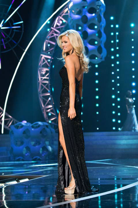 Miss Nevada USA 2013, Chelsea Caswell, competes in her evening gown during the 2013 MISS USA Competition at PH Live in Las Vegas, Nevada on Sunday June 16, 2013.  <span class=meta>(Photo&#47;Patrick Prather)</span>