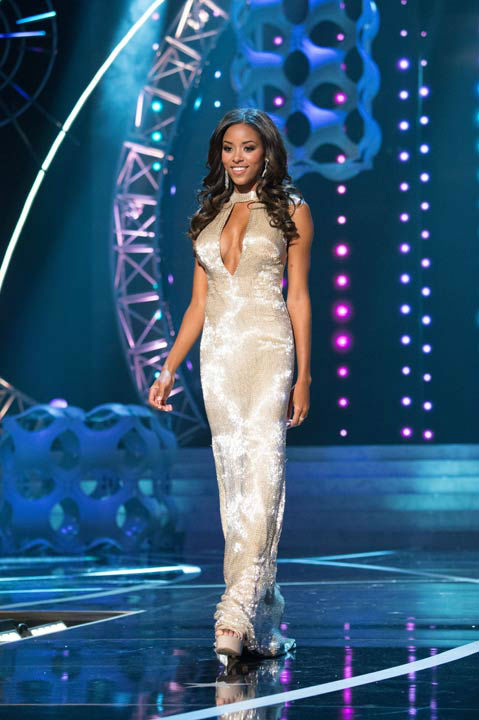 "<div class=""meta image-caption""><div class=""origin-logo origin-image ""><span></span></div><span class=""caption-text"">Miss South Carolina USA 2013, Megan Pinckney, competes in her evening gown during the 2013 MISS USA Competition at PH Live in Las Vegas, Nevada on Sunday June 16, 2013.   (Photo/Patrick Prather)</span></div>"