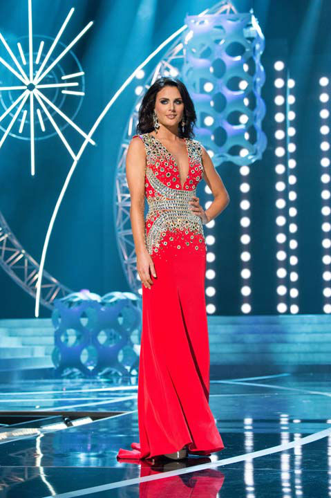 "<div class=""meta ""><span class=""caption-text "">Miss Texas USA 2013, Ali Nugent, competes in her evening gown during the 2013 MISS USA Competition at PH Live in Las Vegas, Nevada on Sunday June 16, 2013.  (Photo/Patrick Prather)</span></div>"