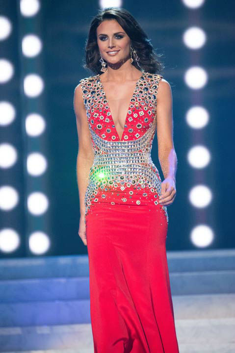 Miss Texas USA 2013, Ali Nugent, competes in her evening gown during the 2013 MISS USA Competition at PH Live in Las Vegas, Nevada on Sunday June 16, 2013.  <span class=meta>(Photo&#47;Patrick Prather)</span>