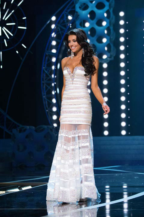 Miss Utah USA 2013, Marissa Powell, competes in her evening gown during the 2013 MISS USA Competition at PH Live in Las Vegas, Nevada on Sunday June 16, 2013.  <span class=meta>(Photo&#47;Patrick Prather)</span>