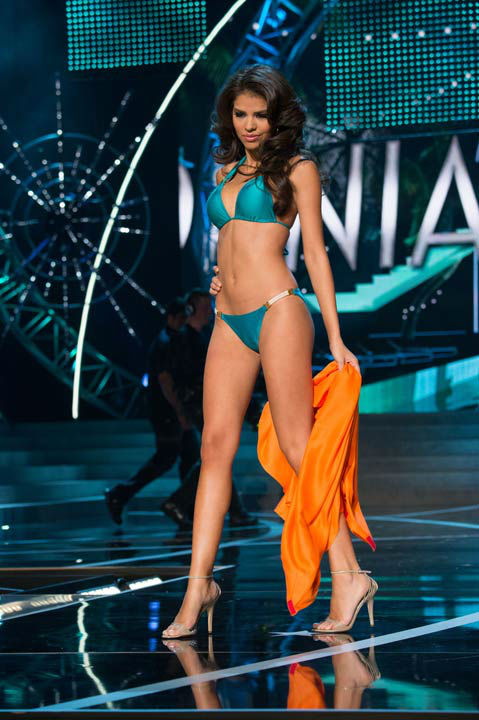 "<div class=""meta ""><span class=""caption-text "">Miss California USA 2013, Mabelynn Capeluj, competes in her ViX Paula Hermanny swimsuit during the 2013 MISS USA Competition at PH Live in Las Vegas, Nevada on Sunday June 16, 2013. (Photo/Richard Harbaugh)</span></div>"