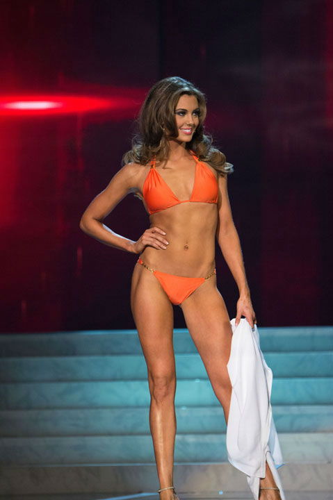 "<div class=""meta ""><span class=""caption-text "">Miss Connecticut USA 2013, Erin Brady, competes in her ViX Paula Hermanny swimsuit during the 2013 MISS USA Competition at PH Live in Las Vegas, Nevada on Sunday June 16, 2013.  (Photo/Richard Harbaugh)</span></div>"