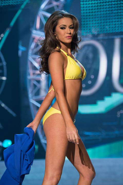 "<div class=""meta image-caption""><div class=""origin-logo origin-image ""><span></span></div><span class=""caption-text"">Miss Louisiana USA 2013, Kristen Girault, competes in her ViX Paula Hermanny swimsuit during the 2013 MISS USA Competition at PH Live in Las Vegas, Nevada on Sunday June 16, 2013. (Photo/Richard Harbaugh)</span></div>"