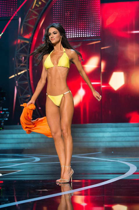 "<div class=""meta ""><span class=""caption-text "">Miss Maryland USA 2013, Kasey Staniszewski, competes in her ViX Paula Hermanny swimsuit during the 2013 MISS USA Competition at PH Live in Las Vegas, Nevada on Sunday June 16, 2013.  (Photo/Richard Harbaugh)</span></div>"