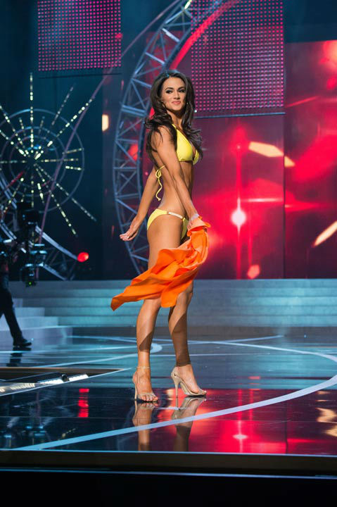 Miss Maryland USA 2013, Kasey Staniszewski, competes in her ViX Paula Hermanny swimsuit during the 2013 MISS USA Competition at PH Live in Las Vegas, Nevada on Sunday June 16, 2013.  <span class=meta>(Photo&#47;Richard Harbaugh)</span>