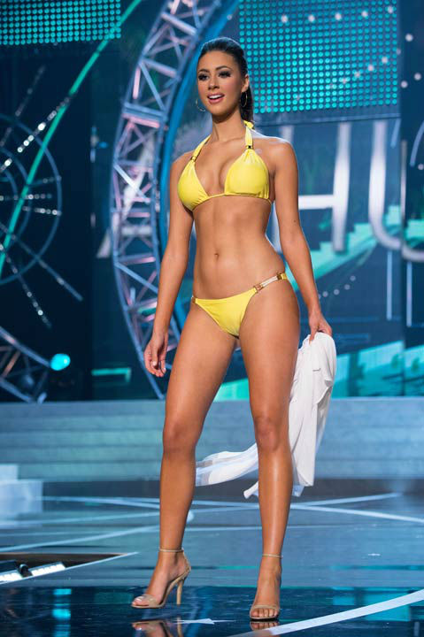 Miss Massachusetts USA 2013, Sarah Kidd, competes in her ViX Paula Hermanny swimsuit during the 2013 MISS USA Competition at PH Live in Las Vegas, Nevada on Sunday June 16, 2013.  <span class=meta>(Photo&#47;Richard Harbaugh)</span>