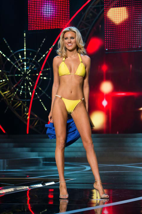 Miss Nevada USA 2013, Chelsea Caswell, competes in her ViX Paula Hermanny swimsuit during the 2013 MISS USA Competition at PH Live in Las Vegas, Nevada on Sunday June 16, 2013.  <span class=meta>(Photo&#47;Richard Harbaugh)</span>