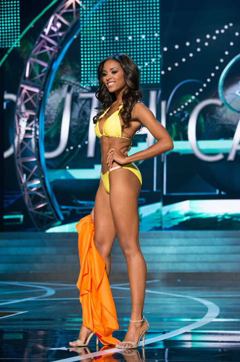 "<div class=""meta image-caption""><div class=""origin-logo origin-image ""><span></span></div><span class=""caption-text"">Miss South Carolina USA 2013, Megan Pinckney, competes in her ViX Paula Hermanny swimsuit during the 2013 MISS USA Competition at PH Live in Las Vegas, Nevada on Sunday June 16, 2013.  (Photo/Richard Harbaugh)</span></div>"