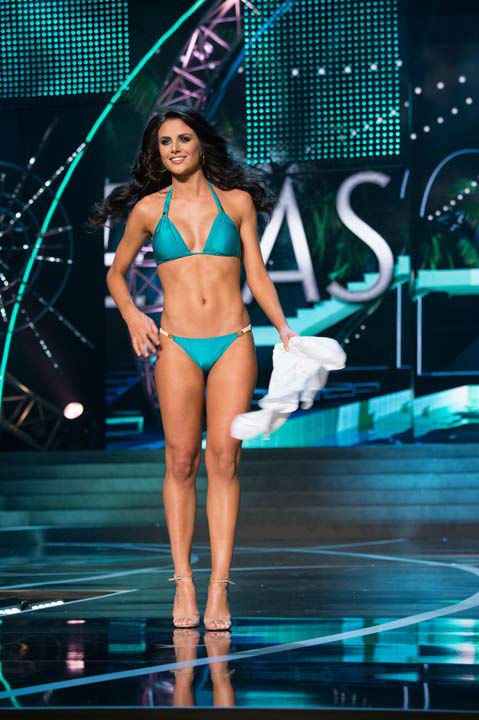 Miss Texas USA 2013, Ali Nugent, competes in her ViX Paula Hermanny swimsuit during the 2013 MISS USA Competition at PH Live in Las Vegas, Nevada on Sunday June 16, 2013. <span class=meta>(Photo&#47;Richard Harbaugh)</span>