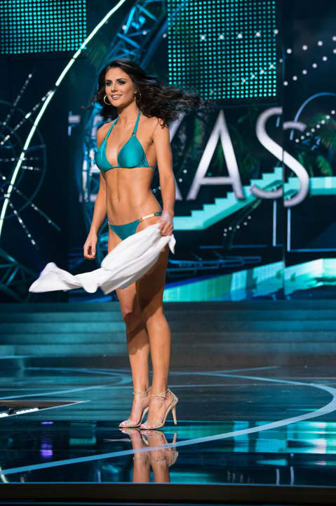 "<div class=""meta ""><span class=""caption-text "">Miss Texas USA 2013, Ali Nugent, competes in her ViX Paula Hermanny swimsuit during the 2013 MISS USA Competition at PH Live in Las Vegas, Nevada on Sunday June 16, 2013.  (Photo/Richard Harbaugh)</span></div>"