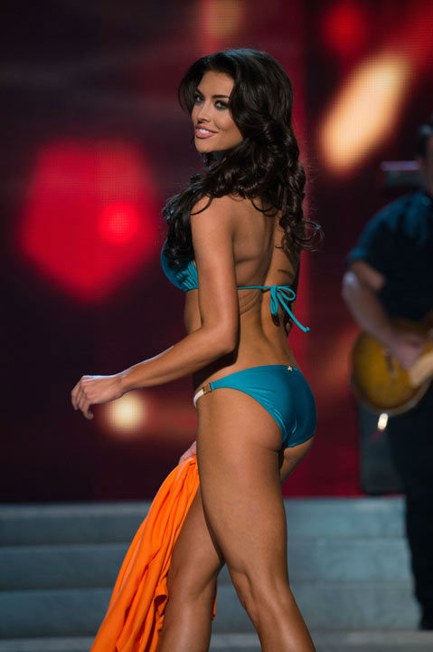 Miss Utah USA 2013, Marissa Powell, competes in her ViX Paula Hermanny swimsuit during the 2013 MISS USA Competition at PH Live in Las Vegas, Nevada on Sunday June 16, 2013. <span class=meta>(Photo&#47;Richard Harbaugh)</span>