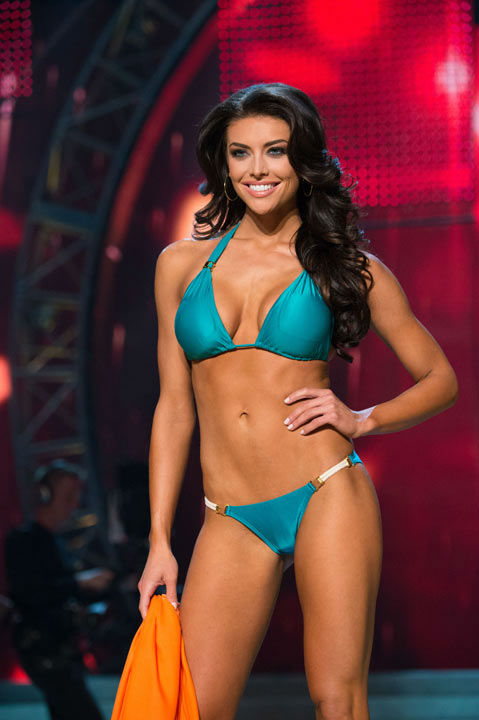 "<div class=""meta image-caption""><div class=""origin-logo origin-image ""><span></span></div><span class=""caption-text"">Miss Utah USA 2013, Marissa Powell, competes in her ViX Paula Hermanny swimsuit during the 2013 MISS USA Competition at PH Live in Las Vegas, Nevada on Sunday June 16, 2013. (Photo/Richard Harbaugh)</span></div>"