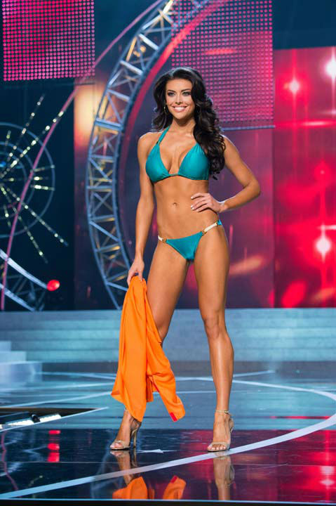 "<div class=""meta ""><span class=""caption-text "">Miss Utah USA 2013, Marissa Powell, competes in her ViX Paula Hermanny swimsuit during the 2013 MISS USA Competition at PH Live in Las Vegas, Nevada on Sunday June 16, 2013. (Photo/Richard Harbaugh)</span></div>"