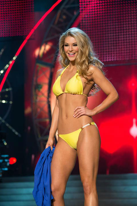 "<div class=""meta image-caption""><div class=""origin-logo origin-image ""><span></span></div><span class=""caption-text"">Miss West Virginia USA 2013, Chelsea Welch, competes in her ViX Paula Hermanny swimsuit during the 2013 MISS USA Competition at PH Live in Las Vegas, Nevada on Sunday June 16, 2013.  (Photo/Richard Harbaugh)</span></div>"