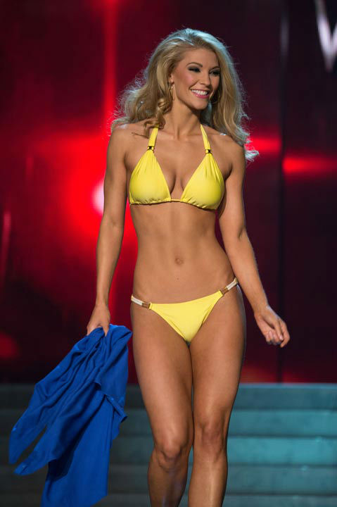Miss West Virginia USA 2013, Chelsea Welch, competes in her ViX Paula Hermanny swimsuit during the 2013 MISS USA Competition at PH Live in Las Vegas, Nevada on Sunday June 16, 2013.  <span class=meta>(Photo&#47;Richard Harbaugh)</span>