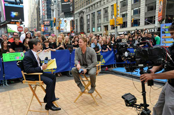 Brad Pitt was interview by &#39;Good Morning America&#39; co-host George Stephanopoulos on June 17, 2013. <span class=meta>(ABC Photo&#47; Donna Svennevik)</span>
