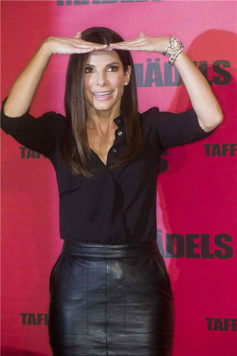 Sandra Bullock appears at the Berlin, Germany photo call for her film 'The Heat' on June 18, 2013.