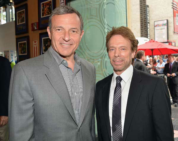 The Walt Disney Company Chairman and CEO Bob Iger and producer Jerry Bruckheimer attend Legendary Producer Jerry Bruckheimer Hollywood Walk of Fame Star Ceremony on the Hollywood Walk of Fame on June 24, 2013 in Hollywood, California. <span class=meta>(Alberto E. Rodriguez &#47; Wireimage &#47; The Walt Disney Company)</span>