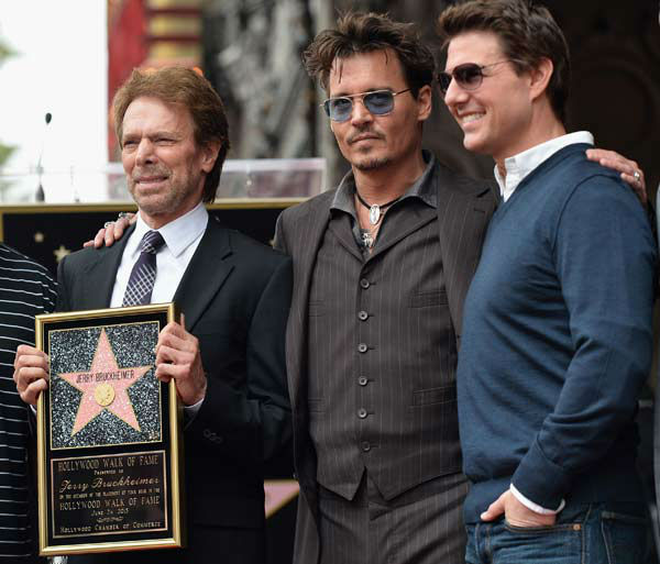 Producer Jerry Bruckheimer, actors Johnny Depp and Tom Cruise attend Legendary Producer Jerry Bruckheimer Hollywood Walk of Fame Star Ceremony on the Hollywood Walk of Fame on June 24, 2013 in Hollywood, California. <span class=meta>(Alberto E. Rodriguez &#47; Wireimage &#47; The Walt Disney Company)</span>
