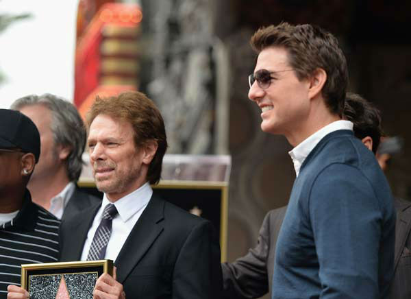 "<div class=""meta ""><span class=""caption-text "">Producer Jerry Bruckheimer and actor Tom Cruise attend Legendary Producer Jerry Bruckheimer Hollywood Walk of Fame Star Ceremony on the Hollywood Walk of Fame on June 24, 2013 in Hollywood, California.  (Photo/Alberto E. Rodriguez)</span></div>"