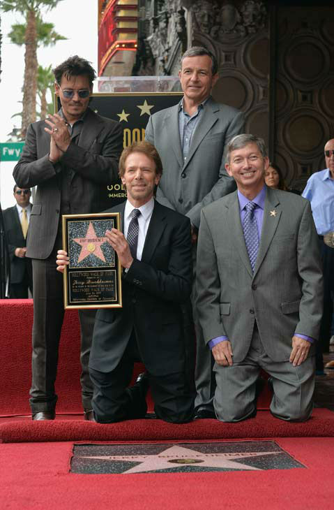 "<div class=""meta image-caption""><div class=""origin-logo origin-image ""><span></span></div><span class=""caption-text"">Actor Johnny Depp, producer Jerry Bruckheimer, The Walt Disney Company Chairman and CEO Bob Iger and Hollywood Chamber of Commerce President and CEO Leron Gubler attend Legendary Producer Jerry Bruckheimer Hollywood Walk of Fame Star Ceremony on the Hollywood Walk of Fame on June 24, 2013 in Hollywood, California. (Alberto E. Rodriguez / Wireimage / The Walt Disney Company)</span></div>"