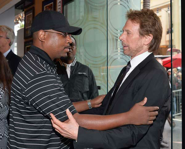 Actor Martin Lawerence and producer Jerry Bruckheimer attend Legendary Producer Jerry Bruckheimer Hollywood Walk of Fame Star Ceremony on the Hollywood Walk of Fame on June 24, 2013 in Hollywood, California. <span class=meta>(Alberto E. Rodriguez &#47; Wireimage &#47; The Walt Disney Company)</span>