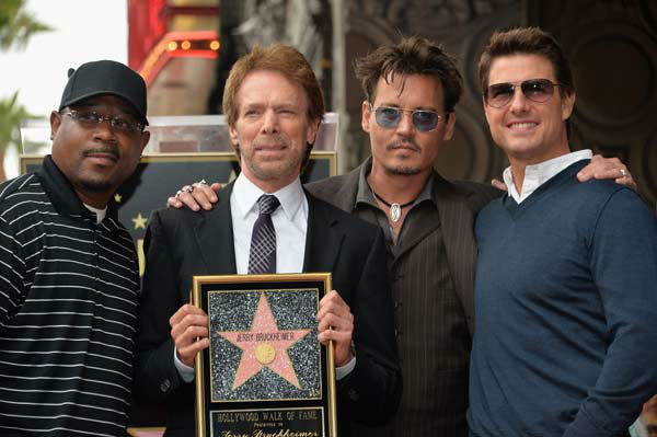 Actor Martin Lawerence, producer Jerry Bruckheimer, actors Johnny Depp and Tom Cruise attend Legendary Producer Jerry Bruckheimer Hollywood Walk of Fame Star Ceremony on the Hollywood Walk of Fame on June 24, 2013 in Hollywood, California. <span class=meta>(Alberto E. Rodriguez &#47; Wireimage &#47; The Walt Disney Company)</span>